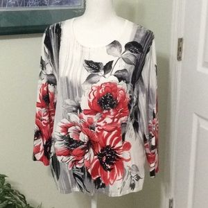 ❤️EUC Alfred Dunner sweater top, large